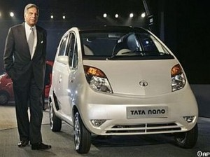 Ratan Tata launching the Nano