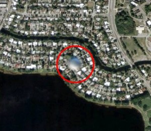 UFO spotted by Google Map