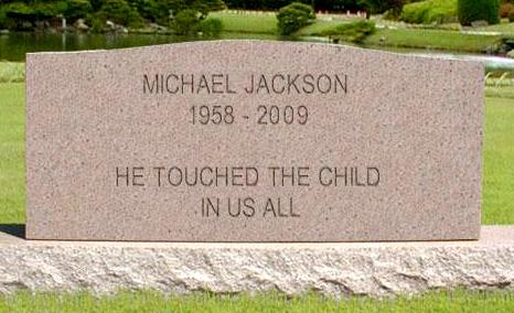 Michael Jackson Gravestone 33 posted on Sun Jun 30 2013