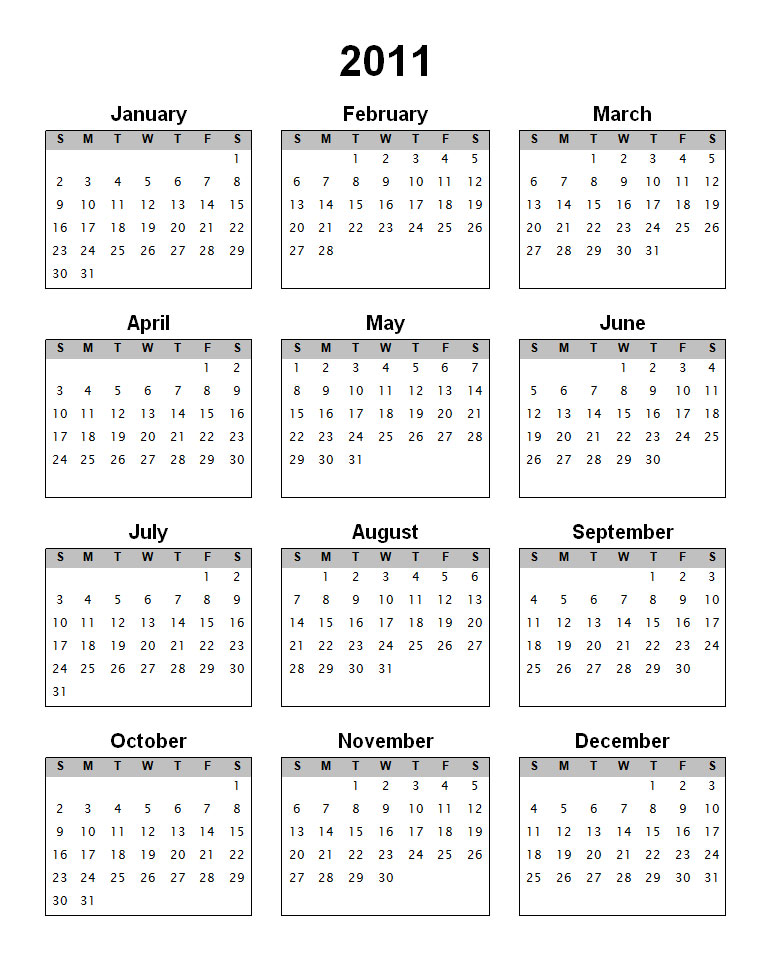 Year 2011 has begin! And its that time of year we search for a new calendar