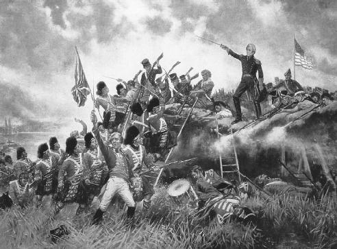 War of 1812 Portrait Depicting Battle of New Orleans