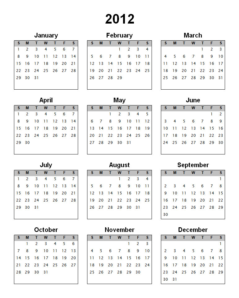 The counter to the year 2012 has been set and our search for the year