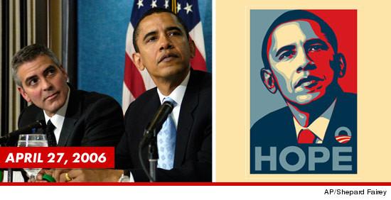george clooney obama hope image