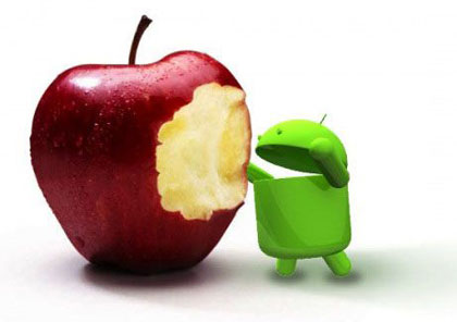 Android iOS gains market share Q1 2012