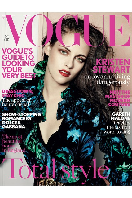 Kristen Stewart on October cover of Vogue UK