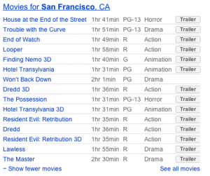 Google adds movie trailers to search results
