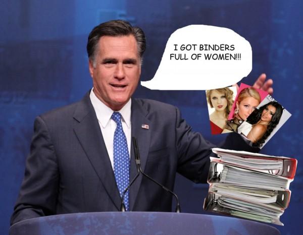 The second presidential debate: Romney boasts of his 'binders full of women'