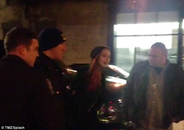Lindsay Lohan Handcuffed and led away by police