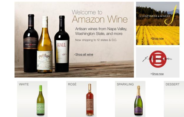 Amazon opens online wine shop in 12 states, 1000+ wines for sale