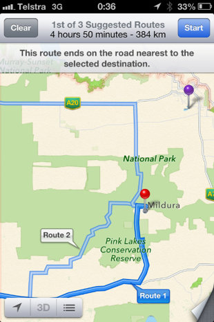apple maps australia