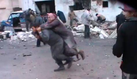 syrian air strike bakery