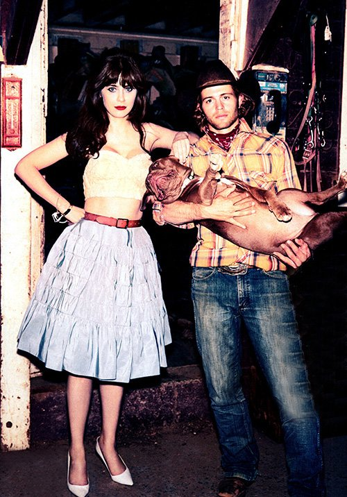 Zooey Deschanel Cute on Glamour Photo shoot