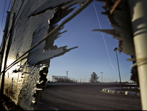 This photo taken Sunday shows the racetrack where a car accident killed two people at Marysville Raceway Park. / Chris Kaufman, AP