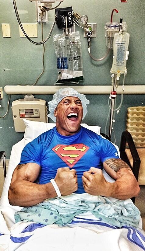 Dwayne Johnson Emergency Hernia Surgery