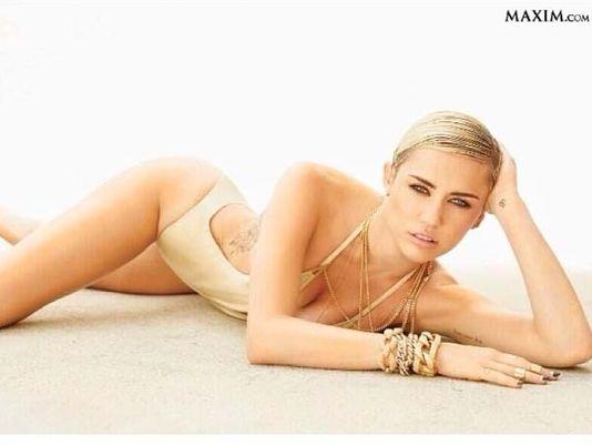 Miley Tops Maxim