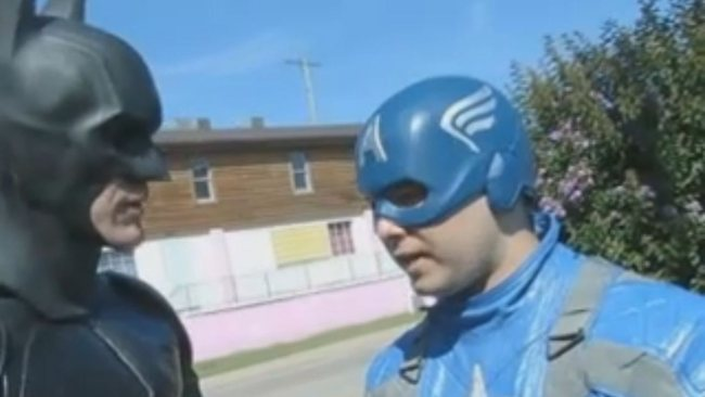 Batman and Captain America