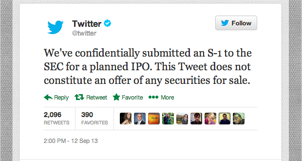 Twitter Shares Priced at $26