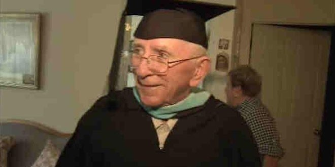 105-Year-Old Man Finally Receives High School Diploma