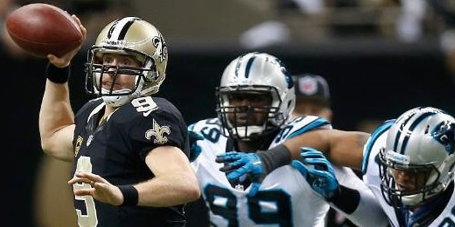 Drew Brees throws for 4 TDs as Saints send off Panthers