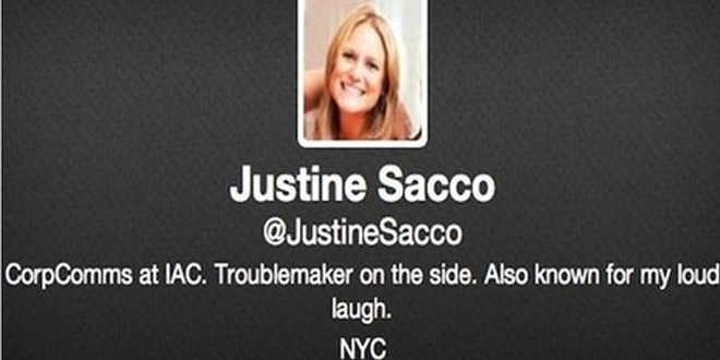 Racist Tweets Costs PR Officer Justine Sacco her Job