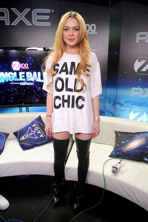Z100 Jingle Bell Lindsay Lohan - Photos