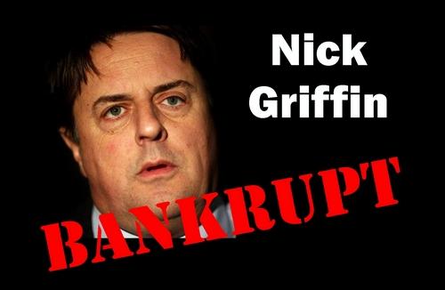 Nick Griffin BNP Leader Declares Bankruptcy!