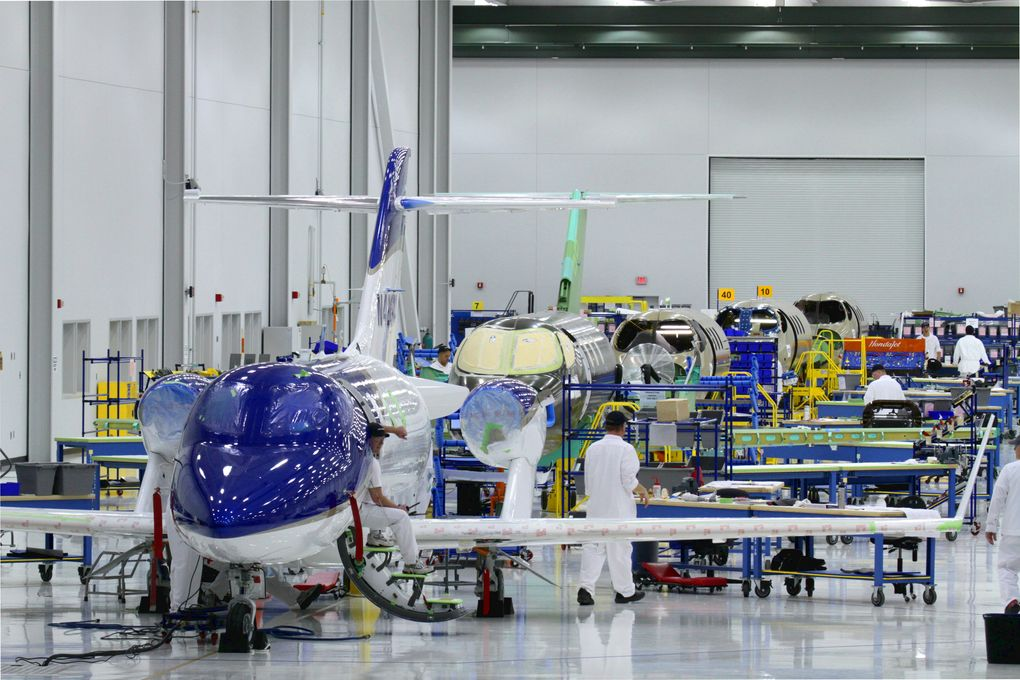 The HondaJet Assembly Line at Honda Aircraft Company