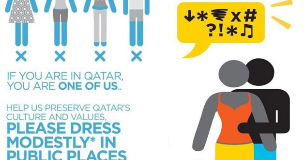 Reflect your Respect, Qatars campaign toward Skin revealing Dressing