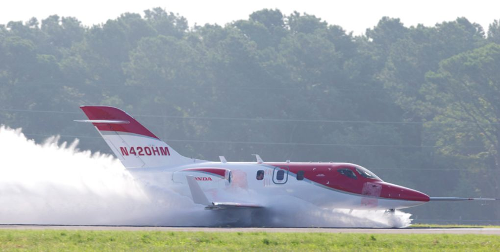 The HondaJet Completed Wet Runway Water Ingestion Tests