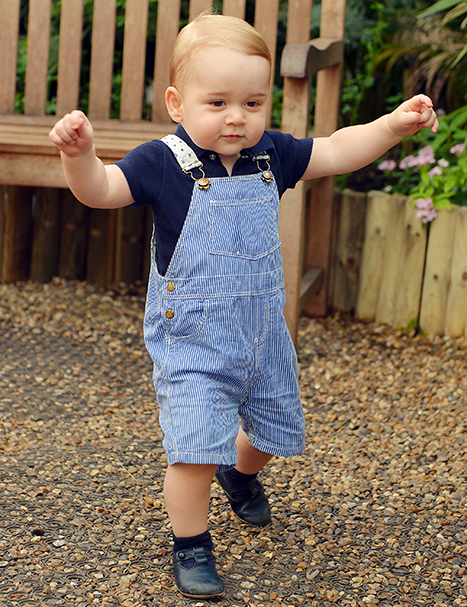 Prince George Walking in Official Photo