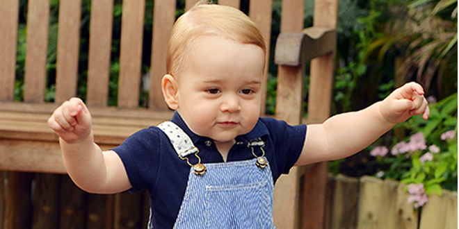 Prince George Walking in New Photo Before First Birthday