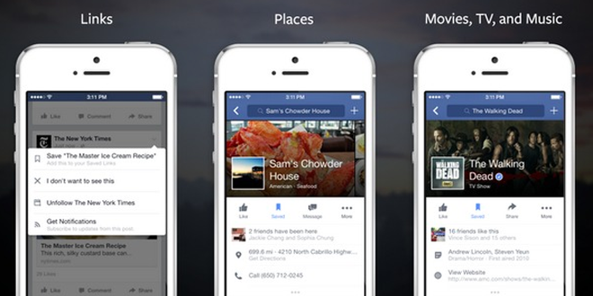 Facebook Introduces 'Save' Feature