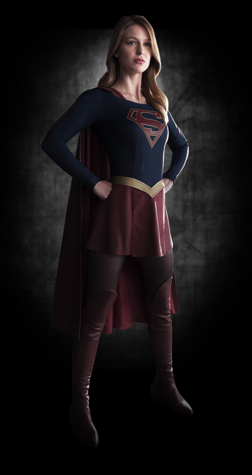 Melissa Benoist as Supergirl for CBS series.